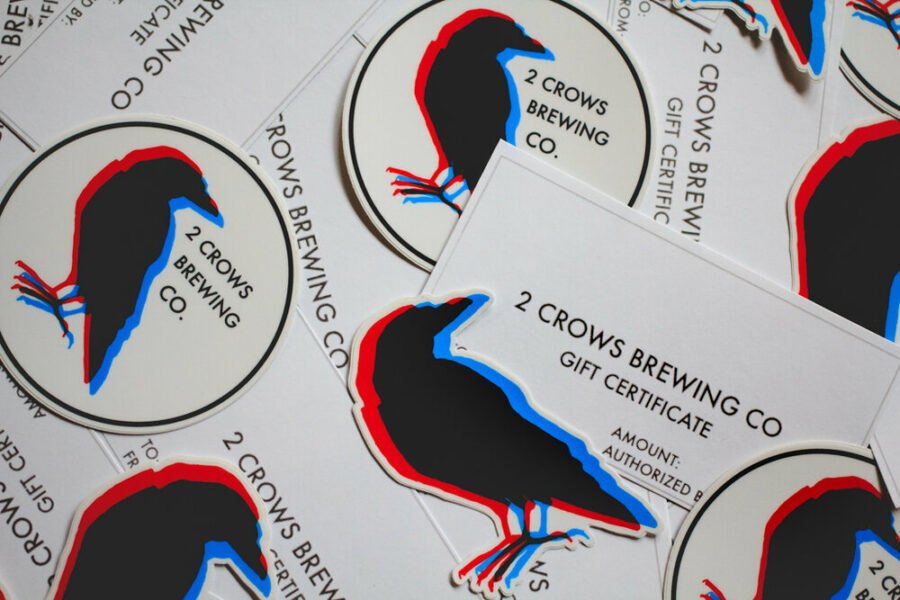 Physical gift cards for 2 crows