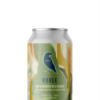 A single short can of our Roble beer, the label is forest inspired with swampy colour tones drifting through the can vertically in different liquid like flowing shapes.