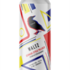 A single tall can of our Waltz beer, the label uses primary colours in shapes and lines.