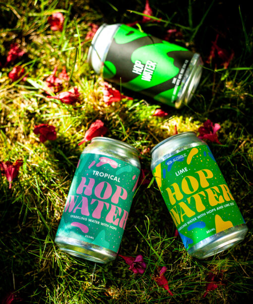 cans of hop water single 2 crows brewing