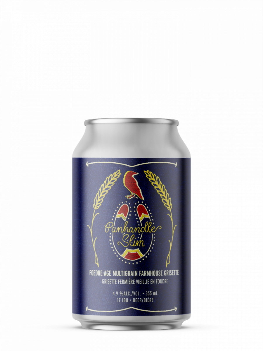 single can of panhandle slim from 2 crows brewing