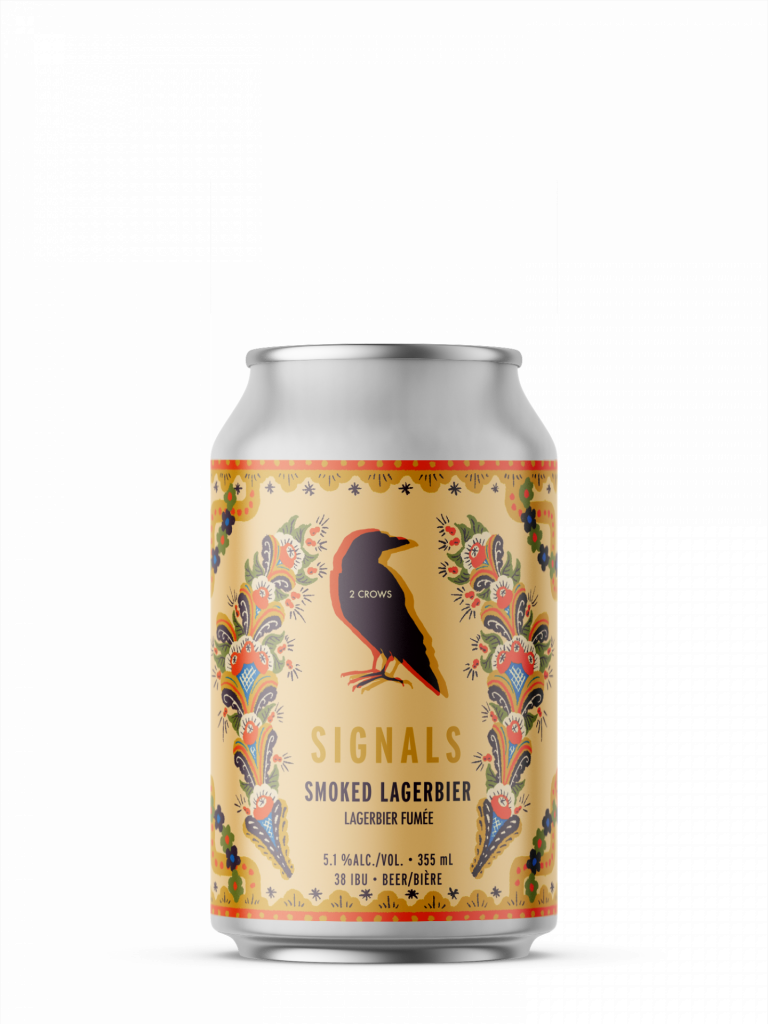 amsingle can of signals from 2 crows brewing
