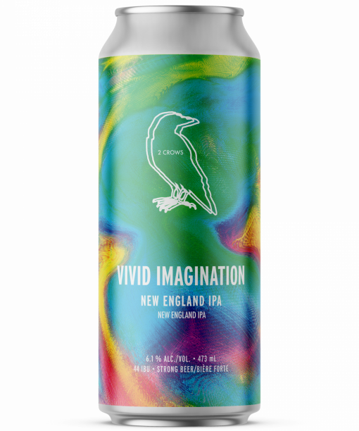 a single can of vivid imagination from 2 crows brewing