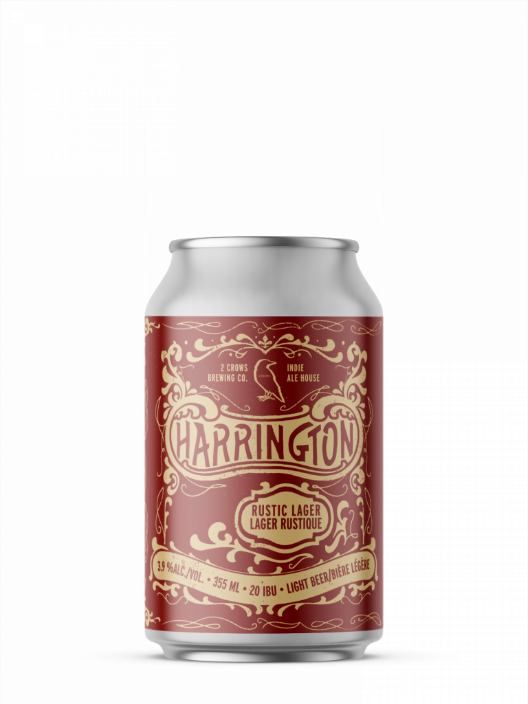 a single can of harrington from 2 crows brewing